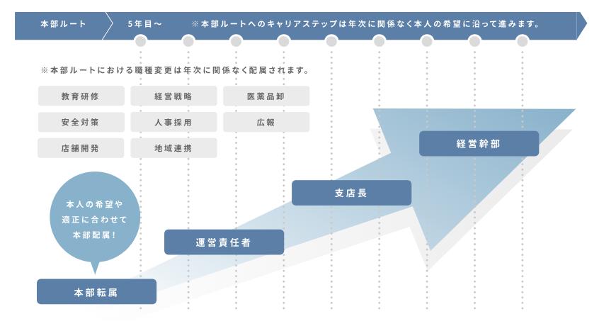 アイン薬局キャリアマップ本部ルート